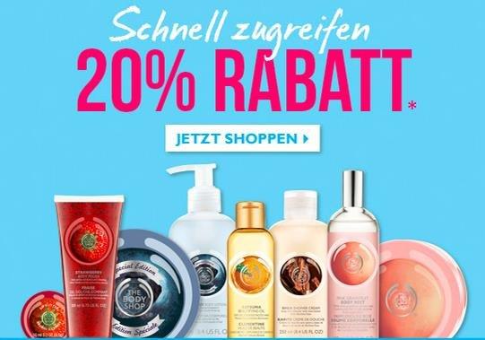 20% Rabatt + Gratis Aloe Face Gel bei The Body Shop