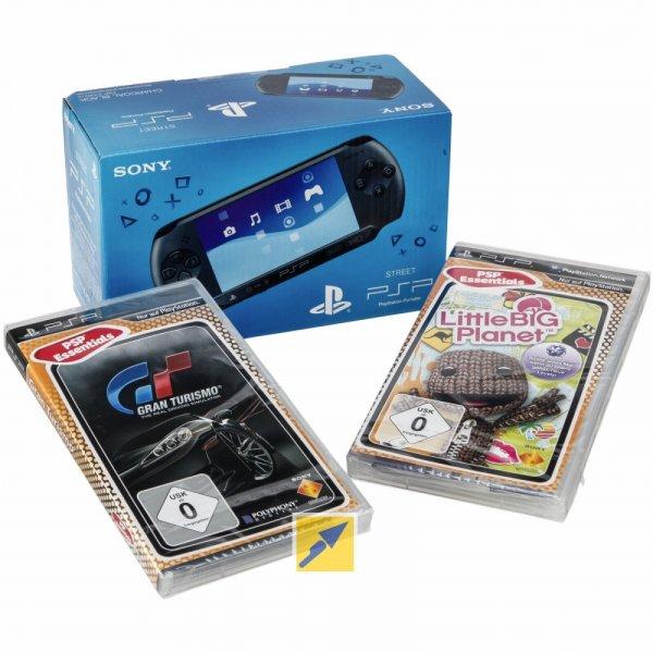 Sony PSP Street E1000 + Gran Turismo + Little Big Planet (Demoware) für 59€ @Technikdirekt