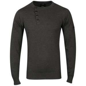 Bench Men's Unreal Crew Neck Knit - Anthracite Dark Grey Marl [XL/XXL] für 12,05€ inkl. Versand