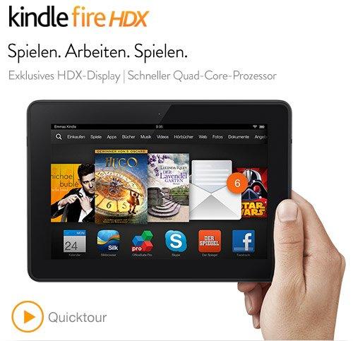 Amazon Kindle Fire HDX 7 ab 189€ @Amazon.de