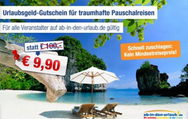 AIDU - Reisegutschein Wert 100 € - 9,90 €-  ! Kein Mindestreisepreis !