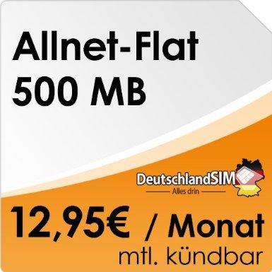 [Amazon] DeutschlandSIM Flat Student (500MB Daten, Telefonie-Flat, 9ct/SMS, 12,95 Euro/Monat, monatlich kündbar) [o2-Netz]