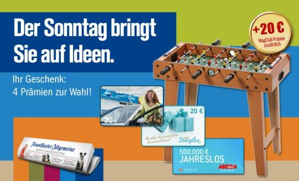 Frankfurter Allgemeine Sonntagszeitung mit 10 ct Gewinn