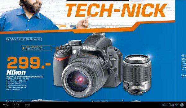 NIKON D 3100 Kit  + 18-55II mm + 55-200mm -- Lokal Saturn Trier