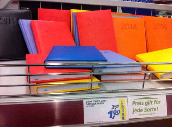 [real] - Terminkalender reduziert auf 1€ Lokal ?!