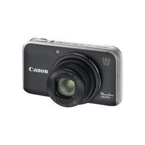 """Canon PowerShot SX210 IS Digitalkamera (14 Megapixel, 14-fach opt. Zoom, 7.6 cm (3 Zoll) Display) schwarz, bei Amazon WHD """"gebraucht - sehr gut"""" für 133,44€"""