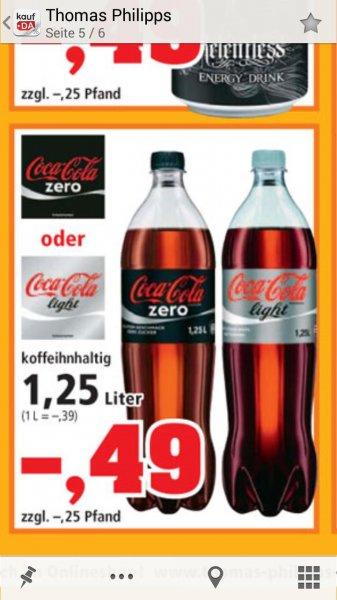 Thomas philipps. Coca Cola Light und Zero nächste Woche für nur 0,49 € für 1,25 l