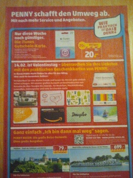 Penny Bundesweit - 25 Euro Geschenkarte (iTunes)