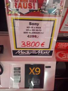 Sony KD-65X9005, 4K LED-TV 3800€ MediaMarkt in Berlin Neukölln