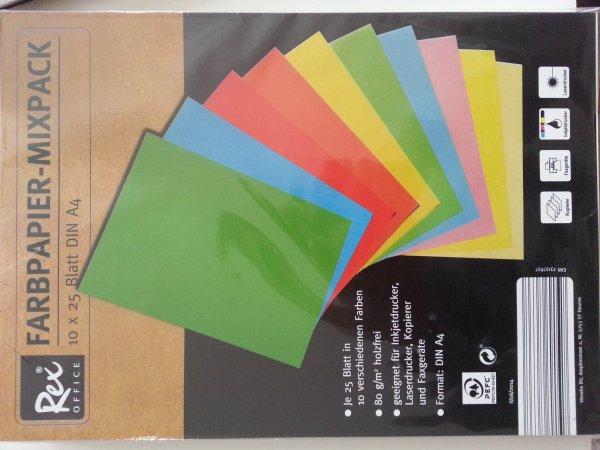 Farbpapier 10×25 Blatt DIN A4 für 2,99€ bei Aldi Süd