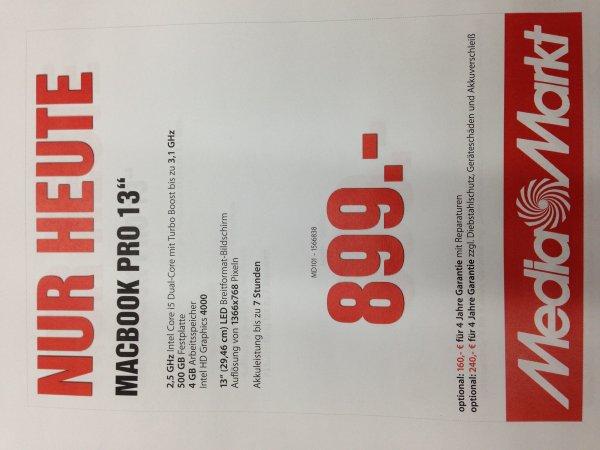 "MEDIA MARKT WEITERSTADT MACBOOK PRO 13""  HEUTE 899€"