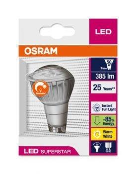 [Amazon] OSRAM LED SUPERSTAR GU10 7,5W warm-weiß Reflektor dimmbar für 9,66 € plus Versand