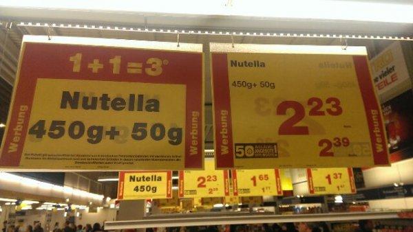 Nutella Metro 1+1=3 plus 50g