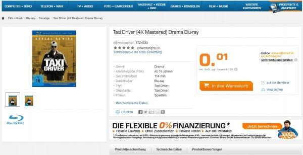Preisfehler - Saturn Online: Blu-Rays für 0,01 €