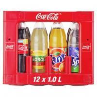 Coca Cola 12x 1liter plus 2 Flaschen Fanta, Mezzo, Sprite oder Georgia gratis  für 7,99€ @real