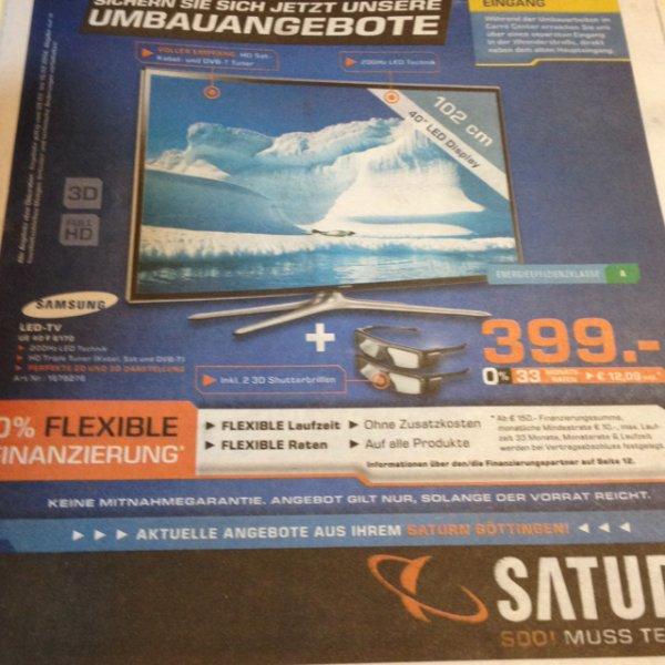 Samsung 3D LED TV UE40F6170 bei Saturn in Göttingen