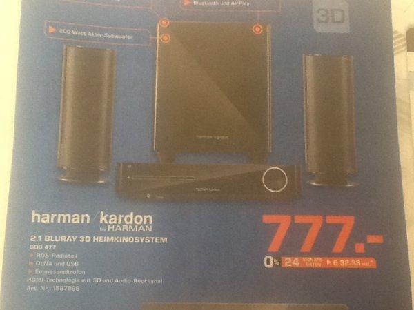 [Saturn Offine] Delmenhorst Harman / Kardon BDS477 2.1 Bluray 3D Heimkinosystem 777,-€