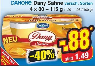 [Netto] : Dany Sahne versch. Sorten für 0,88 €