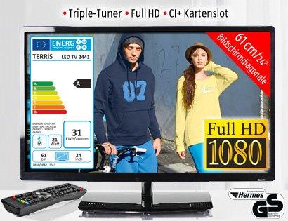24 Zoll LED-TV mit DVD-Player bei Aldi Süd am 13.02.2014