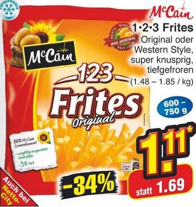 [Netto] : Mc Cain 1 2 3 Frites für 1,11 €