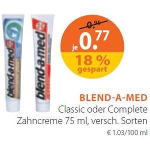 [Müller] Blend-a-med Classic oder Complete Plus 0,27 (mit P&G-Coupon) (10.02.14 - 15.02.14)