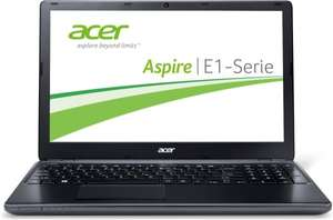 Acer Aspire E1-570G-53338G75MNKK 39,6 cm (15,6 Zoll) Notebook (Intel Core i5 3337U, 1,8GHz, 8GB RAM, 750GB HDD, NVIDIA GT 720M, DVD, Win 8) schwarz