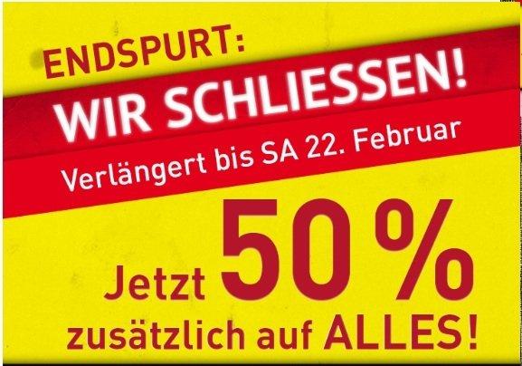 [LOKAL Stuttgart-Feuerbach] Modepark Röther schließt. Endspurt mit zusätzlichen 50% Rabatt