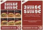 LOKAL Lengerich - Burger King 3 Burger für 6 Euro, 5 für 9 Euro