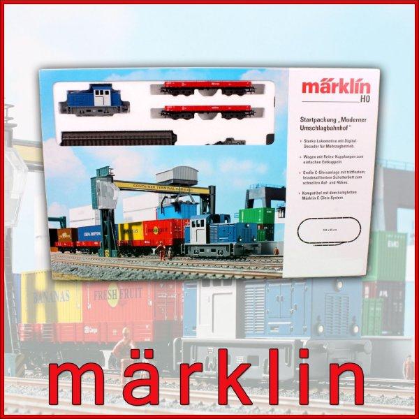 Märklin digitale Modelleisenbahn Starter Set H0 29260 29266 Moderner Umschlagbahnhof
