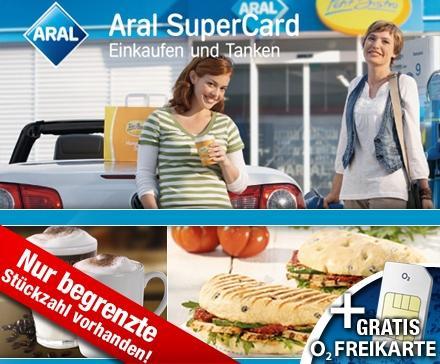 5 Euro statt 10 Euro für Deinen Aral Tankgutschein – Tanken & Shoppen für die Hälfte bei Aral – dazu kostenlos & unverbindlich eine O2 Freikarte zum Ausprobieren