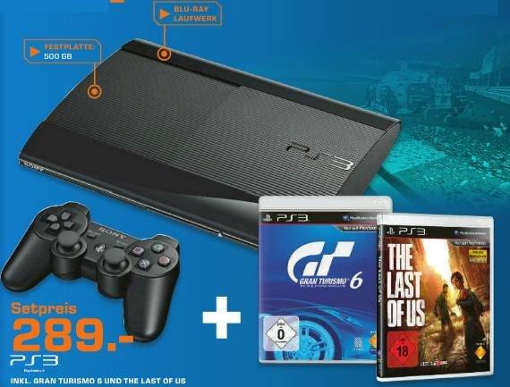 [Saturn] PS3 Super Slim 500GB + Gran Turismo 6 + The Last Of Us