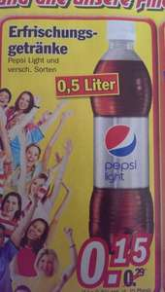 Pepsi Light und andere verschiedene Sorten 0,5l Flaschen [Zimmermann Bundesweit]