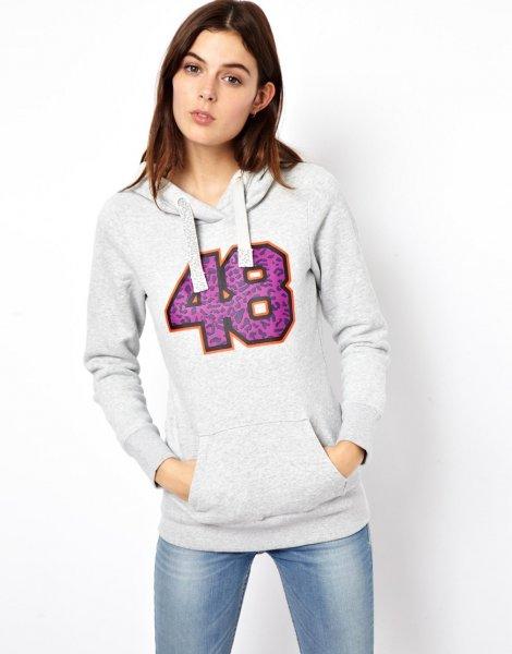 "Puma™ - Damen Kapuzen-Pullover/Hoodie ""fourty-eight"" (Grau) für €16,23 [@Asos.de]"