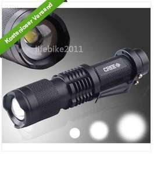 Sehr helle Taschenlampe mit 1300 lumen (Wasserdicht)