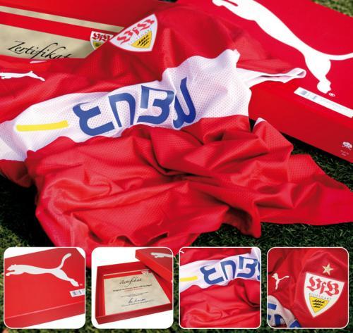 VfB Stuttgart Original Spielertrikot 08-10 rot nur 26,50Euro (Größe S)