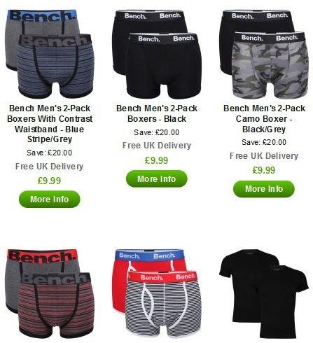 Bench Boxershorts 2er Packs oder 3x Jack und Jones für 12€ inkl. Versand