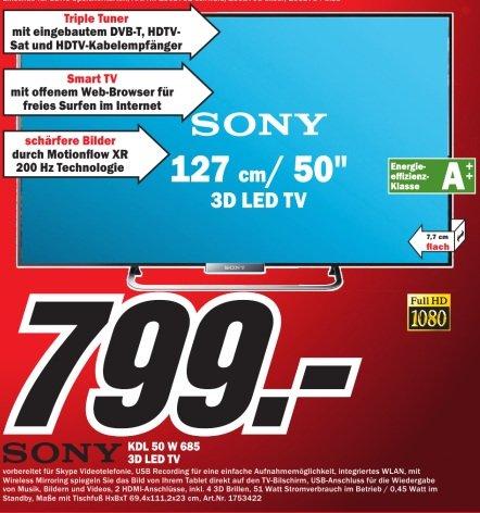 [Lokal Heilbronn] Sony KDL50W685 für 799.-