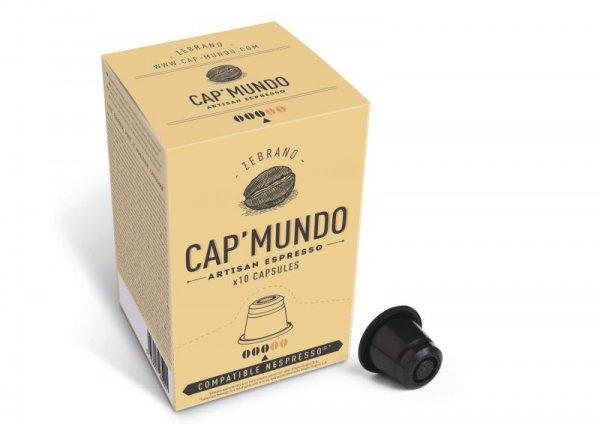 "60% Reduziert: CAP'MUNDO Kapseln ""Zebrano"" & ""Dabema"" für Nespresso. (12,9 Cent pro Kapsel, 3,90VSK)"