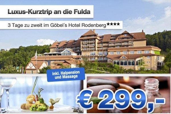 3 Tage zu zweit im Göbels Hotel Rodenburg in 4 Sterne Hotel