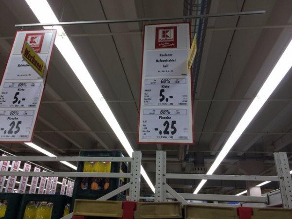 UPDATE: 3€! - Kasten Paulaner Leicht/alkoholfrei 5€