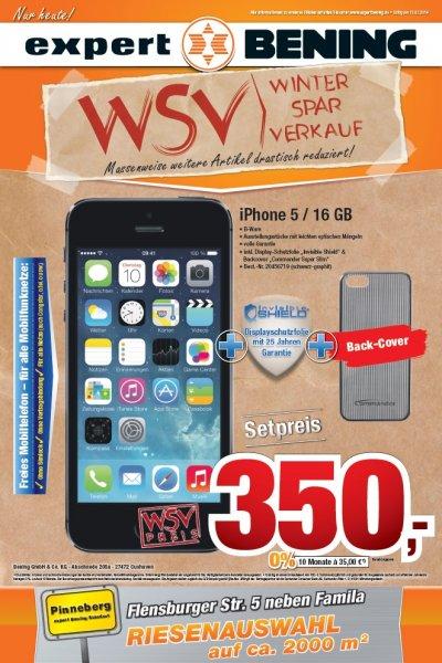 (offline)Expert Bening Pinneberg: iPhone 5 / 16GB B-Ware + Sonder-Zubehör 350,-€