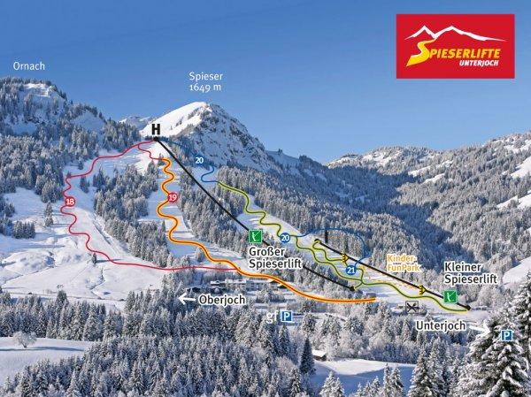 """Skipass Tageskarte nur 11,75€  - """"Spieserlift Unterjoch"""" nur 2 Stunden von Muenchen"""