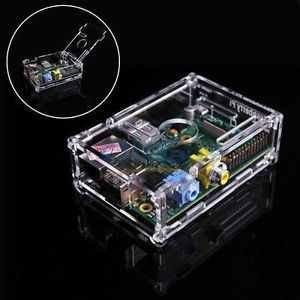 Transparentes Gehäuse Case mit 3 Kühlkörper für alle Raspberry Pi Modelle