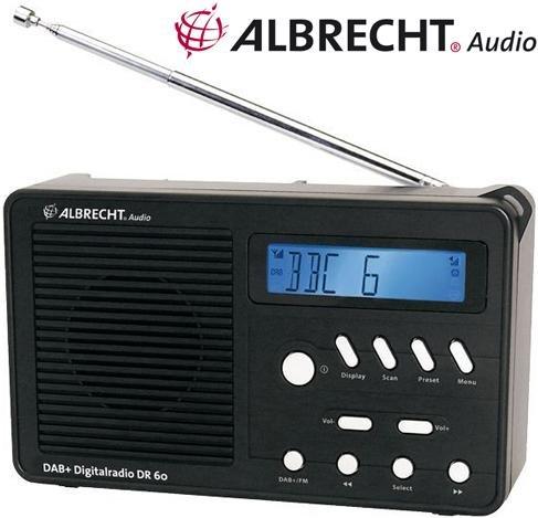 (Wieder verfügbar! 14.02.) Weltradiotag: Albrecht DR60 Digitalradio (DAB, DAB+, UKW mit RDS) Nur heute reduziert & heute versandkostenfrei!