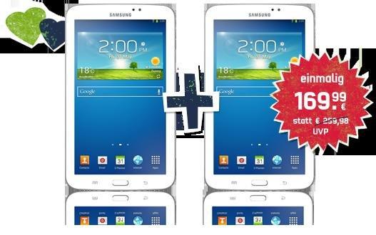 Samsung Galaxy Tab3 7.0 Wifi 8GB Speicher für 84,99€ / Stk. bei Kauf von 2 Stk.