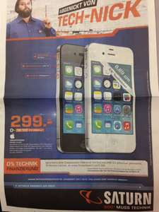 [Lokal] Apple iPhone 4s 8GB - 299€ - Saturn Stuttgart