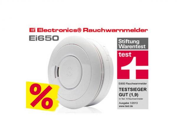 Wochenendeangebot @ Mein Paket: Ei Electronics Stand-alone Rauchwarnmelder Ei650 weiß für 19,99€ inkl. VSK