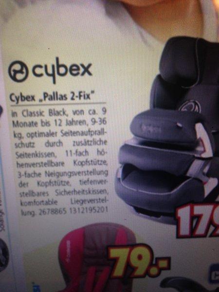 Cybex Pallas 2 Fix Kindersitz 179.- beim Segmüller (lokal offline München)