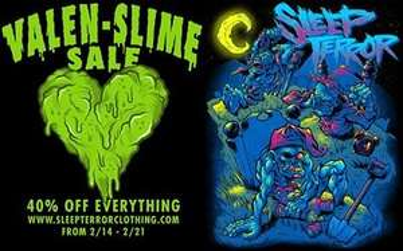 Sleepterror Clothing - VALEN-SLIME SALE 40% OFF