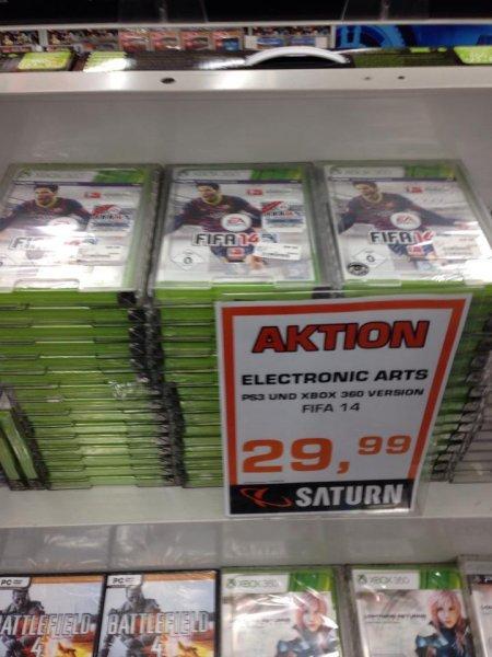 [LOKAL] Saturn Kassel - FIFA 14 für die Playstation 3 und XBOX 360 für jeweils 29,99€
